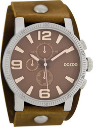 Oozoo Unisex Brown Leather Strap C6477