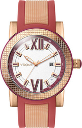 Vogue Fancy Red And Beige Rubber Strap 17301.9
