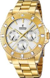 Festina Multifunction Crystals Gold Stainless Steel Bracelet F16694/1