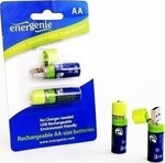 Energenie AA 1500mAh with integrated USB connec...