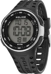 Police Indicator Black Rubber Strap 13904JPBS-02