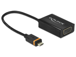 DeLock SlimPort / MyDP male - VGA female + micro USB female (65551)