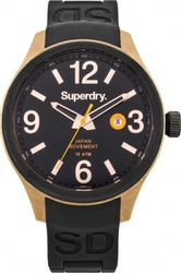Superdry Scuba Luxe Black Rubber Strap SYG132BB