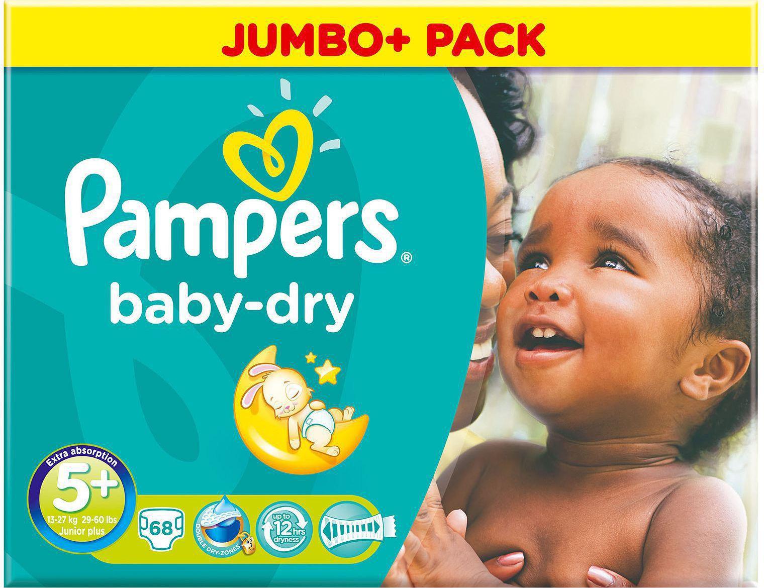 pampers baby dry jumbo pack no 5 13 27kg 68. Black Bedroom Furniture Sets. Home Design Ideas