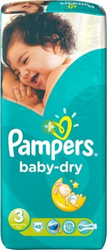 Pampers Baby Dry No 3 (4-9Kg) 48τμχ