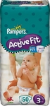 Pampers Active Fit No 3 (4-9Kg) 50τμχ