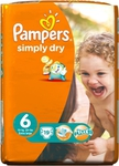 Pampers Simply Dry No 6 (16+ Kg) 19τεμ