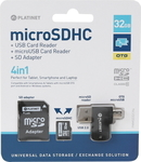 Platinet microSDHC 32GB Class 10 with Adapter & OTG Card Reader