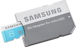 Samsung microSDHC 8GB Class 6 with Adapter