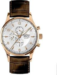 Jacques Lemans London Rose Gold Chrono Brown Leather Strap 1-1844F