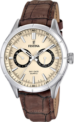 Festina Multifunction Brown Leather Strap F16781/2