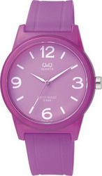 Q&Q Purple Rubber Strap VR35J008Y