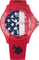 U.S. Polo Assn. Red Rubber Strap USP4176RD