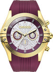 Breeze City Sleek Bordeaux Rubber Strar Chrono 110251.6