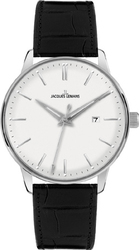 Jacques Lemans Classic Nostalgie Black Leather Strap N-213A
