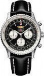 Breitling Navitimer Automatic Chronograph Stainless Steel Leather Strap AB012012