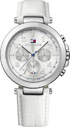 Tommy Hilfiger Multifunction White Leather Strap 1781448