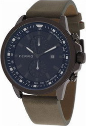 Ferro Brown Leather Strap F13063WT-0170G