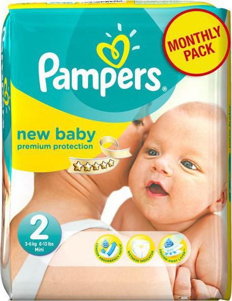 4de0df6397d Προσθήκη στα αγαπημένα menu Pampers New Baby Monthly Pack No 2 (3-6 Kg)  240τμχ