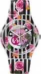 Swatch Rose Explosion Multicolor Rubber Strap SUOW110