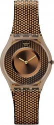 Swatch Hexed Brown Rubber Strap SFC105