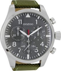 Oozoo Timepieces XXL Green Leather Strap C6792