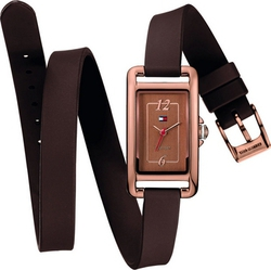 Tommy Hilfiger Jules Brown Rubber Strap 1781223