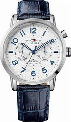 Tommy Hilfiger Calan Multifunction Stainless Steel Leather Strap 1791085