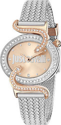 Just Cavalli Sin Crystal Stainless Steel Strap R7253591507
