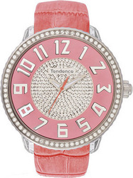 Tendence Glam Crystals Pink Leather Strap TO430045