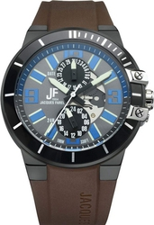 Jacques Farel Multifunction Brown Rubber Strap ATH002
