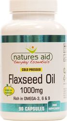 Natures Aid Flaxseed Oil 1000mg 90 κάψουλες