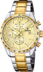 Festina Two Tone Stainless Steel Bracelet Chronograph F16761/1