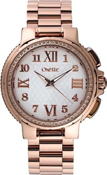 Oxette Crystal Ladies Rose Gold Stainless Steel Bracelet 11X05-00402