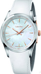 Calvin Klein Stainless Steel Leather Strap K5A31BLG