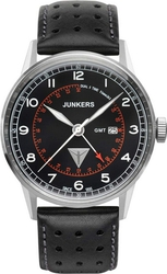 Junkers G-38 Gmt Black Leather Strap 6946-2