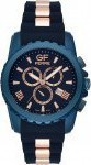 Gianfranco Ferre Chronograph Anodized Stainless Steel Rubber Strap GFBU7380G
