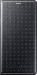 Samsung Flip Cover Punching Pattern Black (Galaxy S5 Mini)