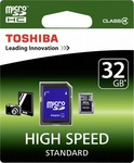 Toshiba microSDHC 32GB Class 4 Standard with Adapter