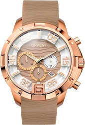 Breeze Tropical Affair Chronograph Rose Gold Stainless Steel Rubber Strap 110161.19