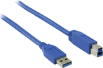 Valueline USB 3.0 Cable USB-A male - USB-B male 3m (VLCP61100L3.00)