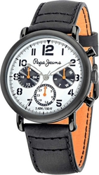 Pepe Jeans Sport Multifunction Black Leather Strap R2351105002