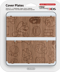Nintendo Cover Plate 010 Super Mario Wooden New 3DS