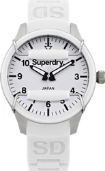 Superdry White Rubber Strap SYL120W