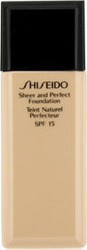 Shiseido Sheer Perfect Foundation SPF15 O60 Natural Deep Ochre 30ml