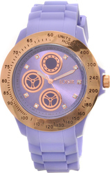 Loisir Crystals Purple Rubber Strap 11L75-00188