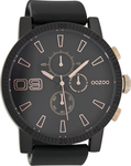 Oozoo Timepieces Black Rubber Strap C7109