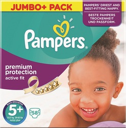 Pampers Active Fit Jumbo Box No 5+ (13-27kg) 58τμχ