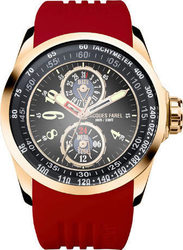 Jacques Farel Multifunction Rose Gold Red Rubber Strap ATR2333