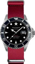 Oxygen Diver 40 Moby Dick Red Fabric Strap EXDMOBRE